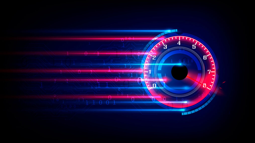 Números binarios sobre contactor de velocidad